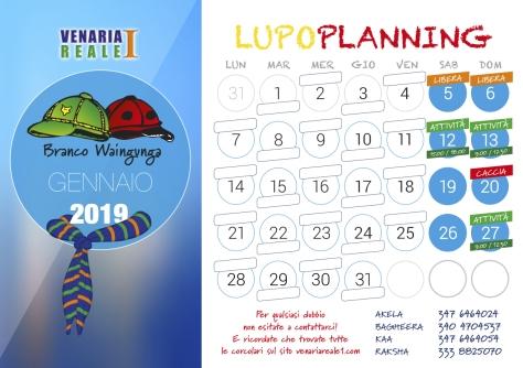 calendario gennaio