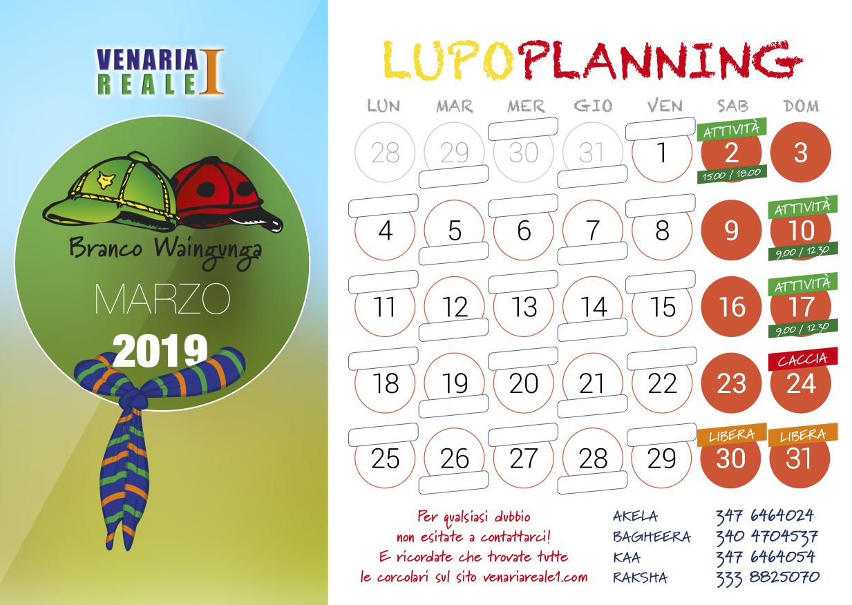 calendario marzo